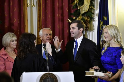 Andy Beshear officially sworn in as Kentucky's 63rd governor