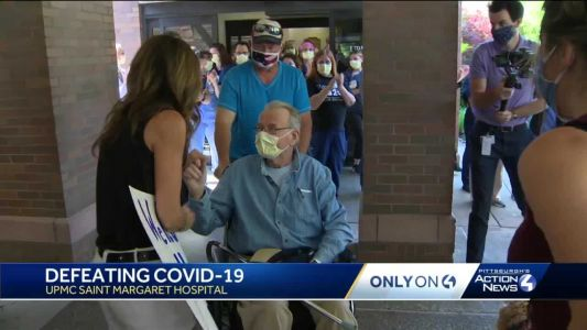 Emotional reunion: 79-year-old coronavirus patient leaves hospital after 2-month battle, finds family waiting to celebrate