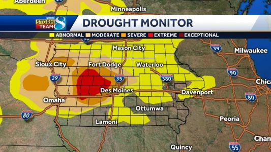 Portions of 11 Iowa counties now in extreme drought