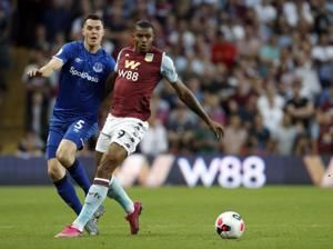 Villa beats Everton 2-0 for first win in EPL