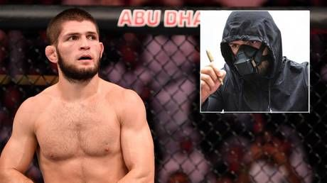 'What matters is our plan.': Masked Khabib compared to Batman villain Bane as he arrives at Fight Island hotel ahead of UFC 254