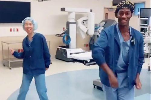 Doctor lifts spirits with TikTok dances