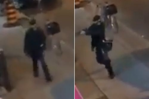 Footage appears to show Toronto gunman opening fire