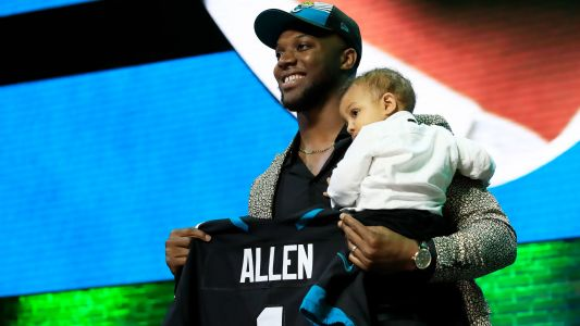 Jaguars rookie Josh Allen dealing with knee injury, not practicing