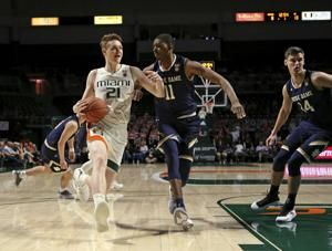 Vasiljevic helps Miami beat cold Notre Dame, 62-47
