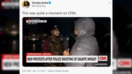 WATCH: CNN reporter covering Brooklyn Center clashes confronted by man angry at media 'twisting' the story
