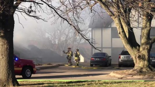 Firefighters respond to burning garages in northwest Omaha