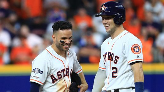 Astros' Jose Altuve, Alex Bregman dance around questions about sign-stealing
