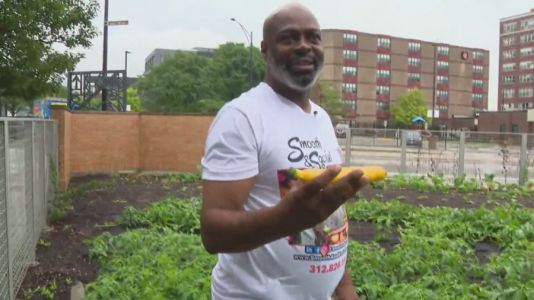 Urban farming helps formerly incarcerated Chicago man in giving back to community