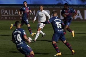 Hazard ends yearlong scoring drought, Madrid beats Huesca