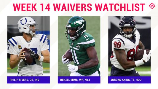 Fantasy Football Waiver Wire Watchlist for Week 14: Streaming targets, free agent sleepers include Philip Rivers, Denzel Mims, Jordan Akins