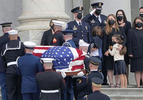 Slain Capitol Police Officer William 'Billy' Evans lies in honor in Capitol Rotunda
