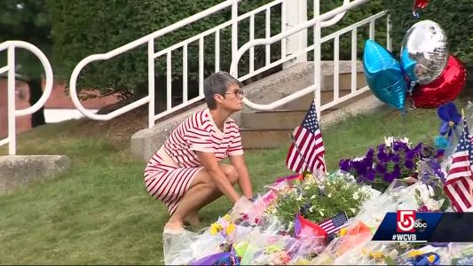Residents visit Weymouth Police Department to honor fallen officer
