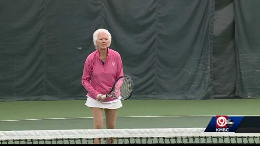 90-year-old tennis player still going strong