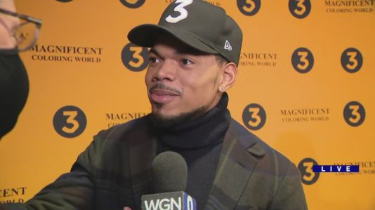 Chance the Rapper hits red carpet for debut of new 'Magnificent Coloring World' concert film