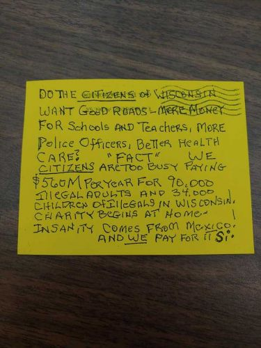 Anonymous writer sends anti-immigrant note to city aldermen