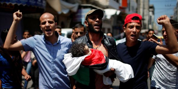 An 8-month-old child's death is one of the most devastating moments of the Gaza protests yet