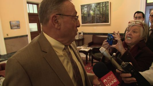 Watch: Maine governor has testy exchange with blogger