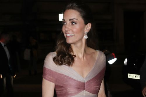 Kate Middleton is a walking valentine in pink Gucci gown