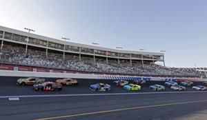 The Latest: Kevin Harvick out front in NASCAR All-Star race
