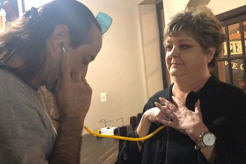 'So strong': Emotional father hears late son's heart beating inside transplant recipient