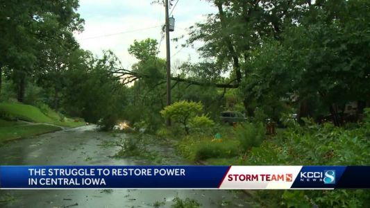 Aid coming to Iowa as companies struggle to restore power