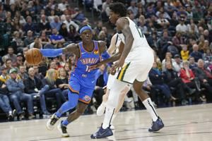 Schroder scores 27 off bench, Thunder dominate Jazz 104-90