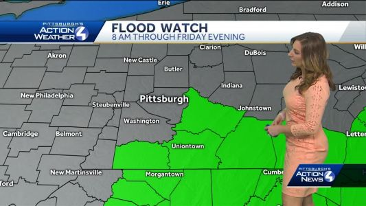 Flood watch in effect for parts of Western Pennsylvania through Friday morning