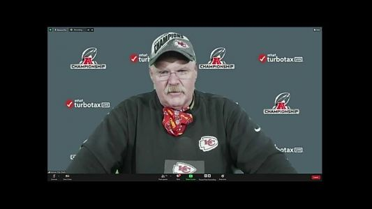 Chiefs coach Andy Reid talks about AFC title game, injured players