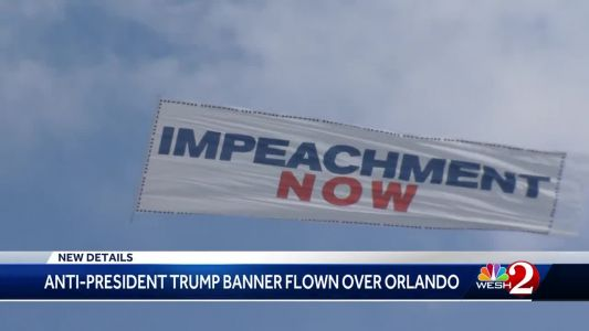 PAC flies banner calling for Trump's impeachment over Orlando
