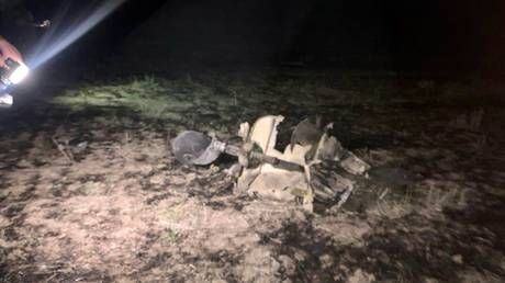 RT gets view of downed Azeri drone on frontline in turbulent Nagorno-Karabakh
