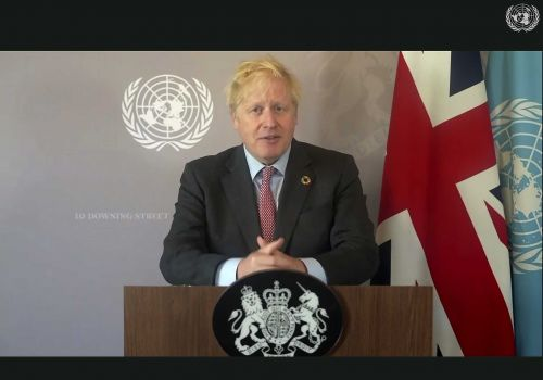 British Prime Minister Boris Johnson urges world leaders to unite against COVID-19