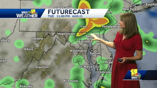 Showers start to build by afternoon