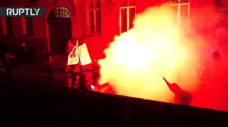 Rally against French bill outlawing sharing images of police dispersed with tear gas in Nantes