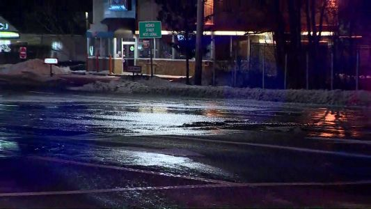 Water main break floods streets in busy section of Marlborough