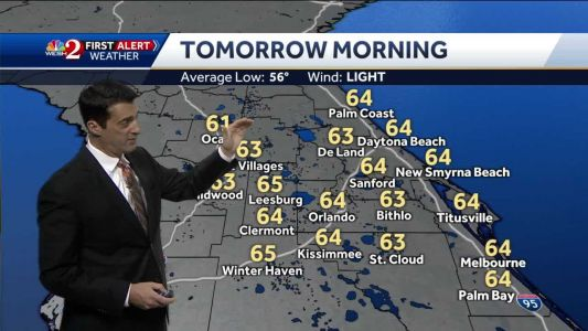 Above average temps expected Saturday morning