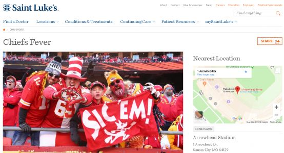 St. Lukes creates website to help treat Chiefs Fever