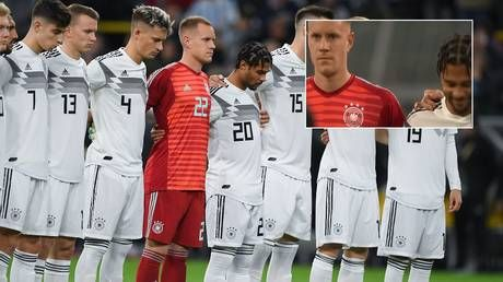 'Why's he smiling?' Confusion as German star Gnabry bursts out laughing during minute's silence for victims of synagogue attack