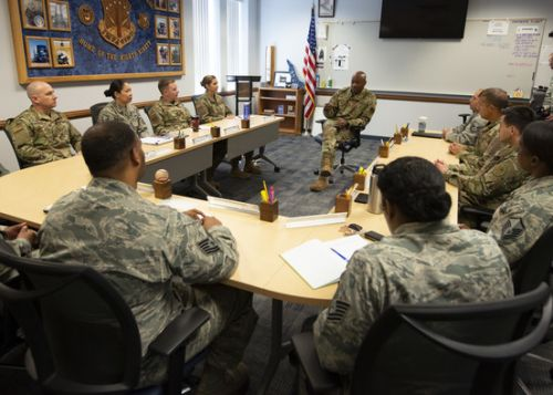 CMSAF Wright visits Peterson AFB