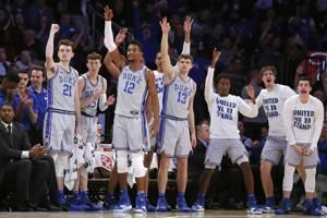 Krzyzewski wins 217th game with Duke ranked No. 1 in romp