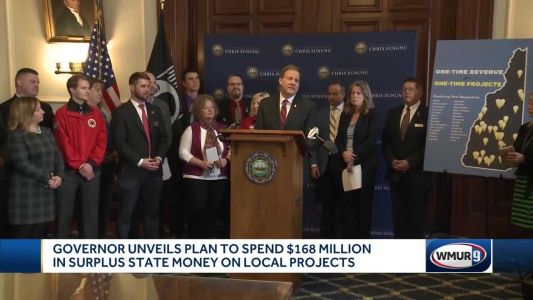 Governor unveils plan to send surplus money to local projects