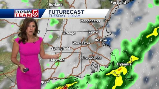 Video: Hot, muggy day before showers move in