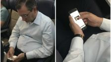Ted Cruz Spotted On Flight Looking At Photo Of Senate Rival Beto O'Rourke