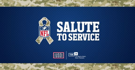 TuneIn Supports Salute to Service with the NFL and the USO