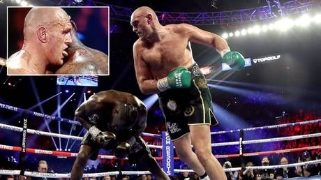 Bloodlust: Boxing fans convinced Tyson Fury LICKED Deontay Wilder's BLOOD during brutal stoppage win in Vegas rematch