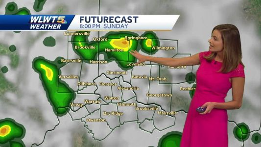 Scattered storms possible Sunday