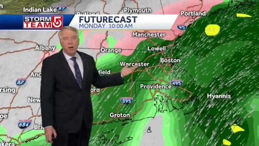 Video: Coastal storm to bring ice threat during Monday AM commute