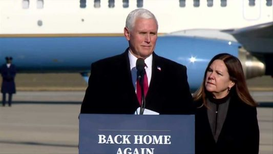 Immediately following inauguration, former VP Pence heads home to Indiana