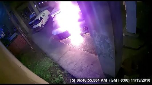 Caught on camera: Man trying to steal gas from U-Haul sets himself on fire