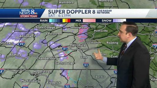 Few Snow/Rain Showers This Evening; Seasonal Chill & Brisk Sunday